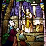 Vitrail vendéen de la Messe dans les bois Petite Eglise